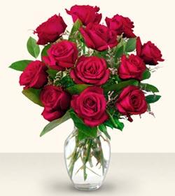 Diyarbakır 14 şubat sevgililer günü çiçek  10 adet gül cam yada mika vazo da