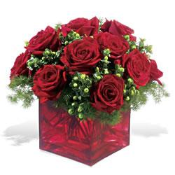 Diyarbakır 14 şubat sevgililer günü çiçek  9 adet kirmizi gül cam yada mika vazoda
