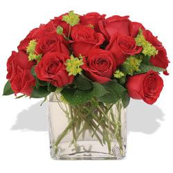 Diyarbakır hediye sevgilime hediye çiçek  10 adet kirmizi gül ve cam yada mika vazo