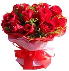 9 adet kirmizi güllerden kipkirmizi buket  Diyarbakır çiçek yolla , çiçek gönder , çiçekçi
