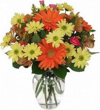 Diyarbakır hediye çiçek yolla  vazo içerisinde karışık mevsim çiçekleri
