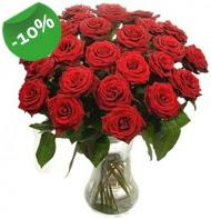 Vazo içerisinde 25 adet kırmızı gül  Diyarbakır çiçek gönderme