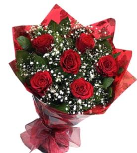 6 adet kırmızı gülden buket  Diyarbakır çiçek siparişi vermek