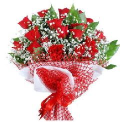 11 kırmızı gülden buket  Diyarbakır çiçek , çiçekçi , çiçekçilik