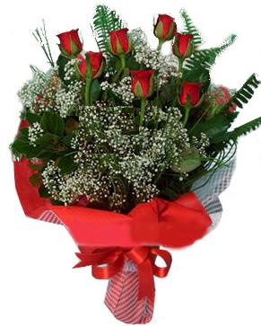 7 kırmızı gül buketi  Diyarbakır çiçek siparişi sitesi