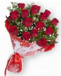 11 kırmızı gülden buket  Diyarbakır internetten çiçek siparişi