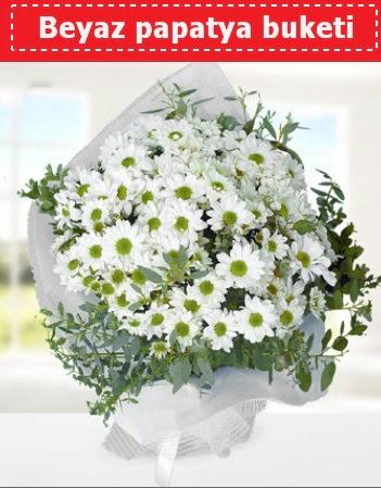 Beyaz Papatya Buketi  Diyarbakır çiçek , çiçekçi , çiçekçilik