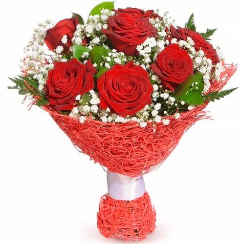 7 adet kırmızı gül buketi  Diyarbakır çiçek yolla , çiçek gönder , çiçekçi