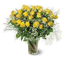Diyarbakır yurtiçi ve yurtdışı çiçek siparişi  15 adet sarigül mika yada cam vazoda