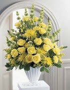 Diyarbakır yurtiçi ve yurtdışı çiçek siparişi  sari güllerden sebboy tanzim çiçek siparisi