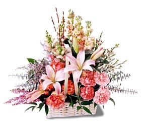 Diyarbakır yurtiçi ve yurtdışı çiçek siparişi  mevsim çiçekleri sepeti özel tanzim