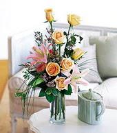 Diyarbakır çiçek servisi , çiçekçi adresleri  cam yada mika vazo içerisinde gül kazablanka