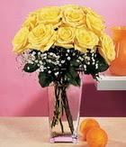 Diyarbakır online çiçekçi , çiçek siparişi  9 adet sari güllerden cam yada mika vazo