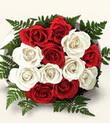 Diyarbakır çiçek servisi , çiçekçi adresleri  10 adet kirmizi beyaz güller - anneler günü için ideal seçimdir -