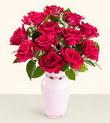 Diyarbakır kaliteli taze ve ucuz çiçekler  10 kirmizi gül cam yada mika vazo tanzim