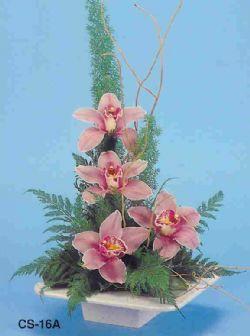 Diyarbakır hediye sevgilime hediye çiçek  vazoda 4 adet orkide