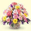 Diyarbakır çiçek satışı  sepet içerisinde gül ve mevsim