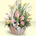 Diyarbakır çiçek , çiçekçi , çiçekçilik  sepette pembe güller