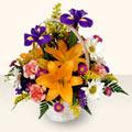Diyarbakır çiçek , çiçekçi , çiçekçilik  sepet içinde karisik çiçekler