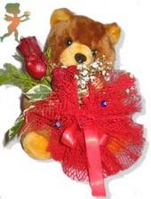 oyuncak ayi ve gül tanzim  Diyarbakır çiçek yolla , çiçek gönder , çiçekçi