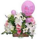 balon ve çiçeklerle tanzim  Diyarbakır online çiçekçi , çiçek siparişi