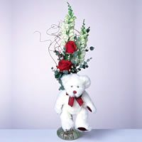 2 adet gül ve panda özel  Diyarbakır güvenli kaliteli hızlı çiçek
