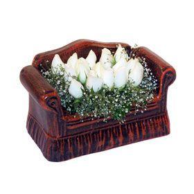seramik içerisinde 11 gül  Diyarbakır kaliteli taze ve ucuz çiçekler