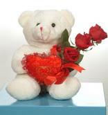 3 adetgül ve oyuncak   Diyarbakır online çiçek gönderme sipariş