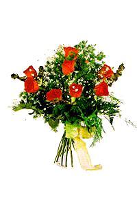 9 adet seçme kirmizi gül   Diyarbakır uluslararası çiçek gönderme