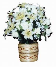 yapay karisik çiçek sepeti   Diyarbakır internetten çiçek satışı