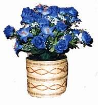 yapay mavi çiçek sepeti  Diyarbakır çiçekçi telefonları