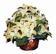 yapay karisik çiçek sepeti   Diyarbakır yurtiçi ve yurtdışı çiçek siparişi