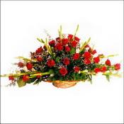 Diyarbakır güvenli kaliteli hızlı çiçek  sepette 51 kirmizi gül