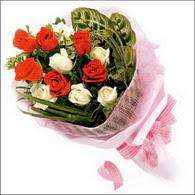 5 kirmizi 5 beyaz güllerden   Diyarbakır çiçek yolla