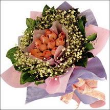 11  adet  gül ve   elyaflar   Diyarbakır güvenli kaliteli hızlı çiçek