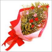 12 adet renkli  gül buketi   Diyarbakır güvenli kaliteli hızlı çiçek