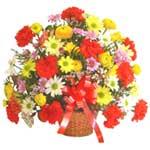 karisik renkli çiçek sepet   Diyarbakır uluslararası çiçek gönderme
