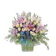 sepette kazablanka ve güller   Diyarbakır anneler günü çiçek yolla