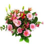 lilyum ve gerbera çiçekleri - çiçek seçimi -  Diyarbakır anneler günü çiçek yolla
