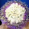 71 adet beyaz gül buketi   Diyarbakır çiçek servisi , çiçekçi adresleri