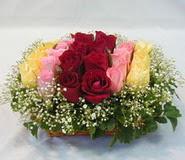 15 adet reprenkli gül sepeti   Diyarbakır 14 şubat sevgililer günü çiçek