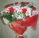 12 gül ve kir çiçeklerinden  Diyarbakır 14 şubat sevgililer günü çiçek