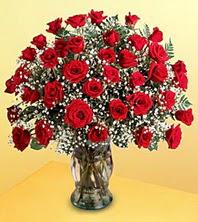 Diyarbakır çiçek satışı  51 adet kirmizi gül ve cam vazo