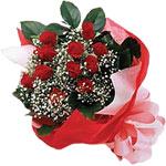 Diyarbakır online çiçekçi , çiçek siparişi  KIRMIZI AMBALAJ BUKETINDE 12 ADET GÜL