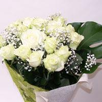 Diyarbakır kaliteli taze ve ucuz çiçekler  11 adet sade beyaz gül buketi