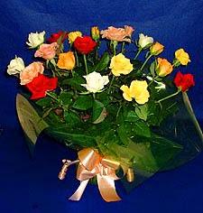 Diyarbakır kaliteli taze ve ucuz çiçekler  13 adet karisik renkli güller