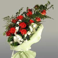 Diyarbakır çiçek mağazası , çiçekçi adresleri  11 adet kirmizi gül buketi sade haldedir