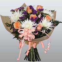 güller ve kir çiçekleri demeti   Diyarbakır çiçek yolla , çiçek gönder , çiçekçi