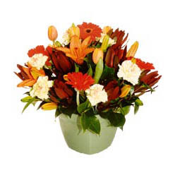 mevsim çiçeklerinden karma aranjman  Diyarbakır cicek , cicekci