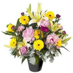 karisik mevsim çiçeklerinden vazo tanzimi  Diyarbakır çiçek satışı